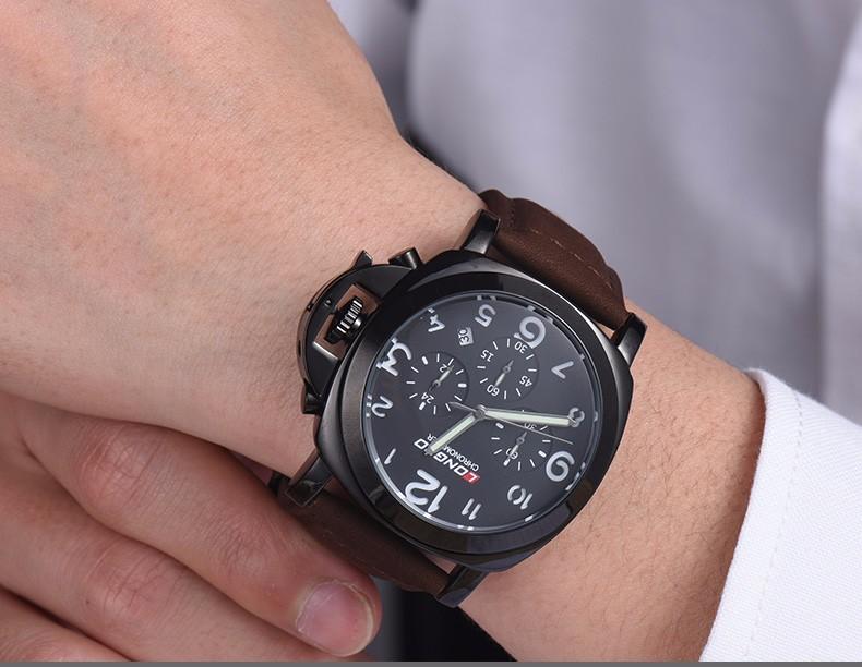 2016 LONGBO Бренд Спорт Военная Кварцевые Часы Повседневная Военная Кожаный Часы Masculino Reloj Мужчины Смотреть Спортивные Наручные Часы 80180