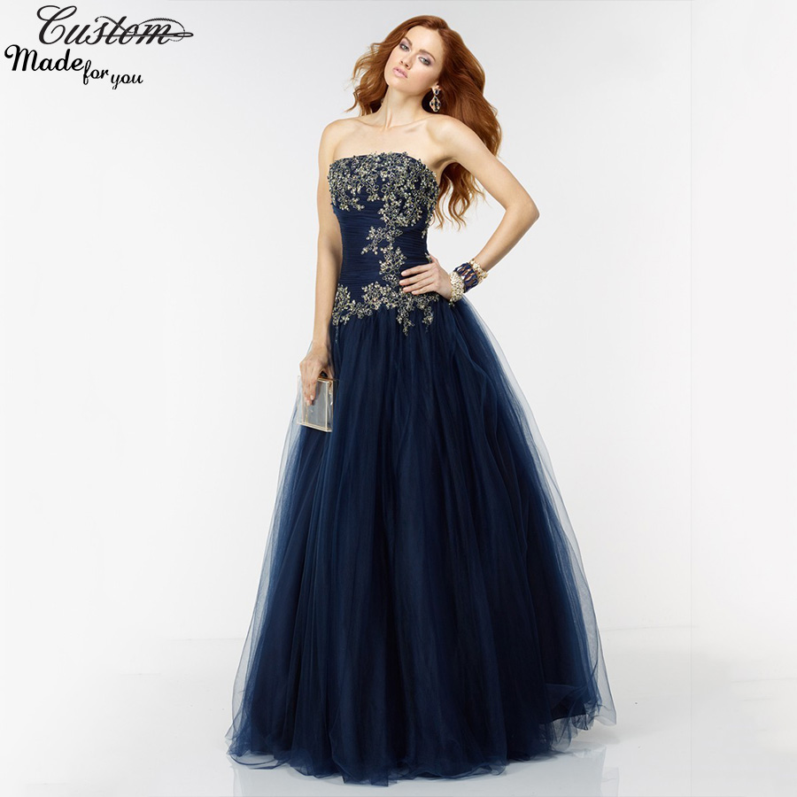 Navy and gold prom dresses | Dress images