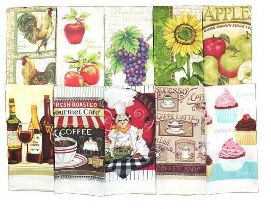 European Style Promotional 100% cotton 40G per pc kitchen tea towel(China (Mainland))