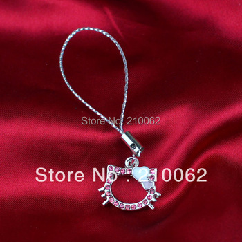 2014 Rushed Limited Free Shipping Hello Kitty Charms Ht-1476 Min.order Is $10 Wholesale for Mobile