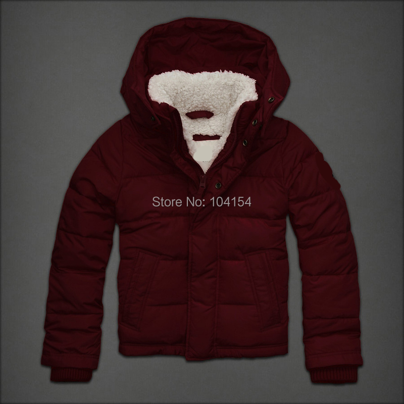 Men Coat Winter lamb wool Slim Fleece Casual Hooded Parka Brand Design Snow Warm Cotton Windproof Thickening Fit Jacket - Guangzhou-store store