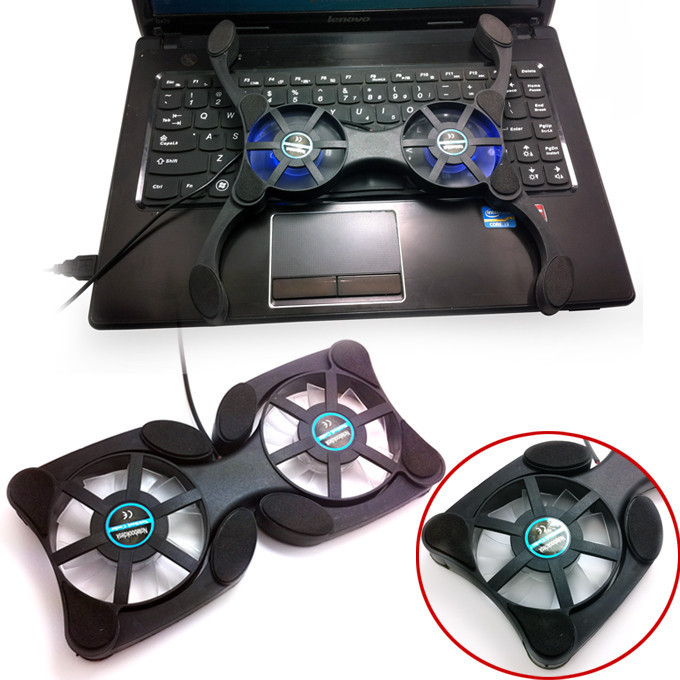 Hot selling! USB Mini Octopus Laptop Notebook Fan Cooler Cooling Pad LED Light