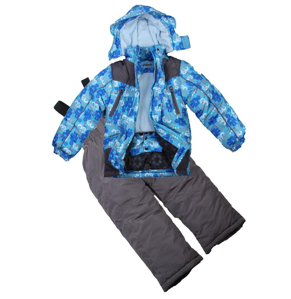 2015 boy winter set children ski set Children's set(hat+jacket+pants) Windproof kid's ski suit boy's winter suit for 3-6T(China (Mainland))