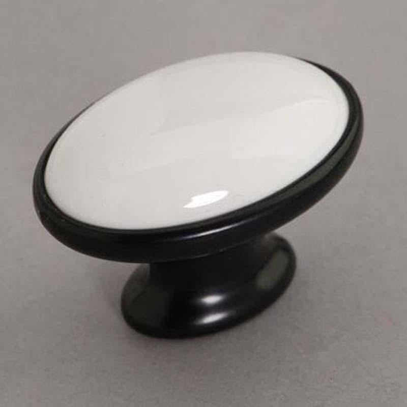 White Ceramic Cabinet Door Knob Black Dresser Knob Drawer Knob Pull White Black Furniture Door Knobs Pull Handle Moderm Simple(China (Mainland))