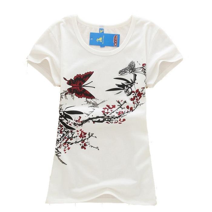 2016 New t shirt women High quality loose tops short sleeve Women short-sleeve female T-shirt print tees women t shirts(China (Mainland))