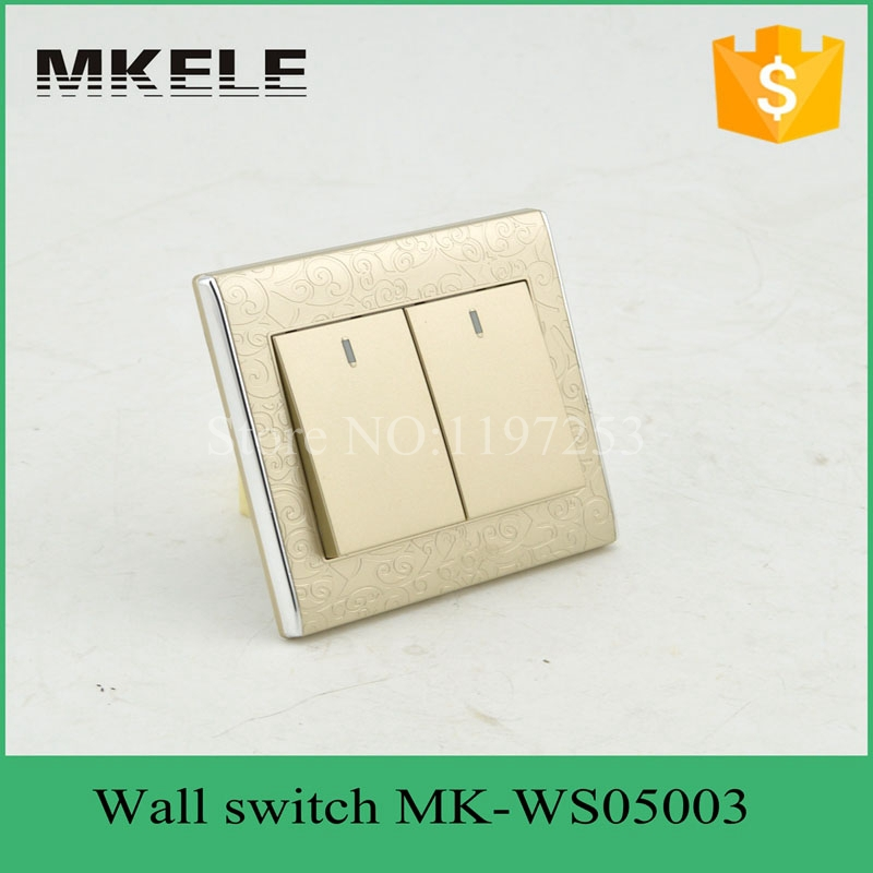 MK-WS05003 2 Gang switch house using flame retardant waterproof touch light switch with button made in China<br><br>Aliexpress
