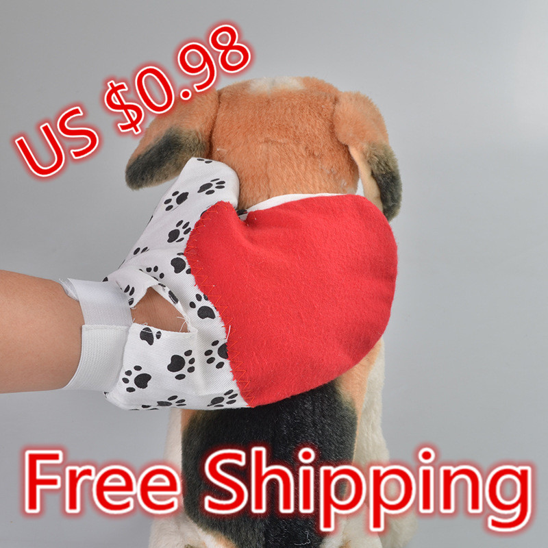 Pet Dog and Cat brush comb Pet Cleaning & grooming glove Dog Bath Massage Glove rubber Dog Brush Comb free shipping(China (Mainland))