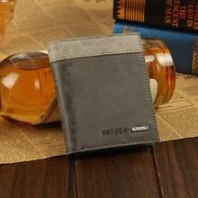 Hot Selling Chic Korean Men s Bifold Business Matte Leather Wallet Card Holder Purse Stripes