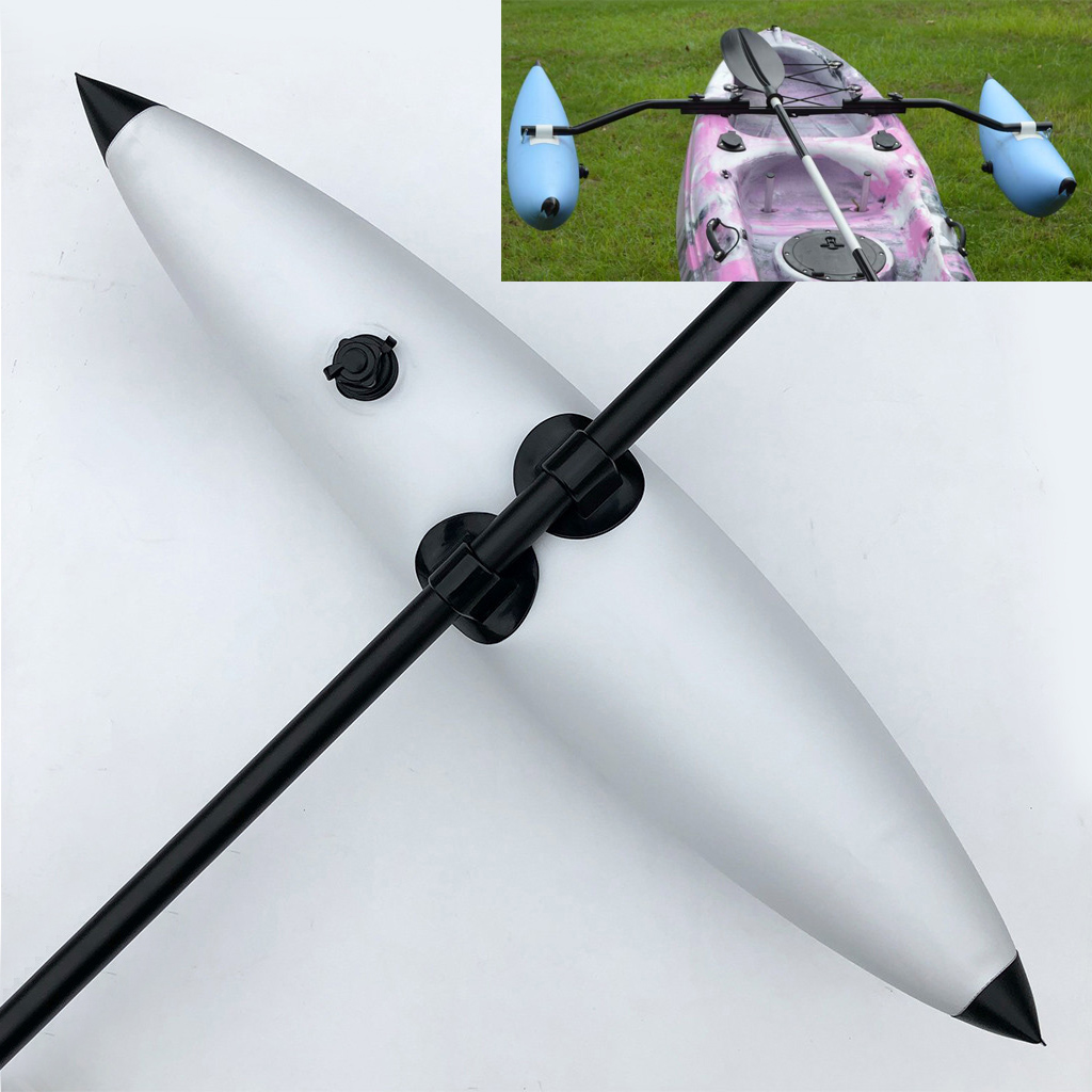 1 Pcs 90cm Inflatable Kayak Outriggers Stabilizers Fishing Boat Canoe Float Buoy Standing Kayak Accessories Blue/White