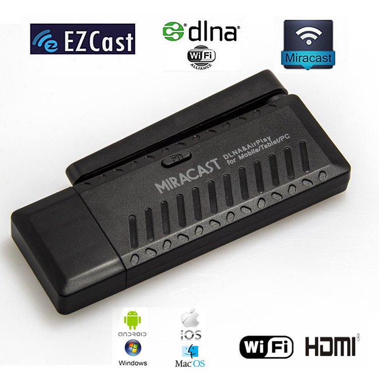 New EzCast Miracast Dongle TV stick DLNA Miracast Airplay Linux3.0.36 DDR3 256MB Single Core ARM Cortex A9 RK2928 Wifi Bluetooth(China (Mainland))