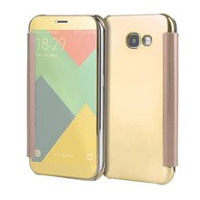 Buy Samsung Galaxy A3 A5 A7 2017 Case Luxury Mirror PU Leather Smart Flip hard Protective back cover samsung a320 a520 a720 for $3.98 in AliExpress store