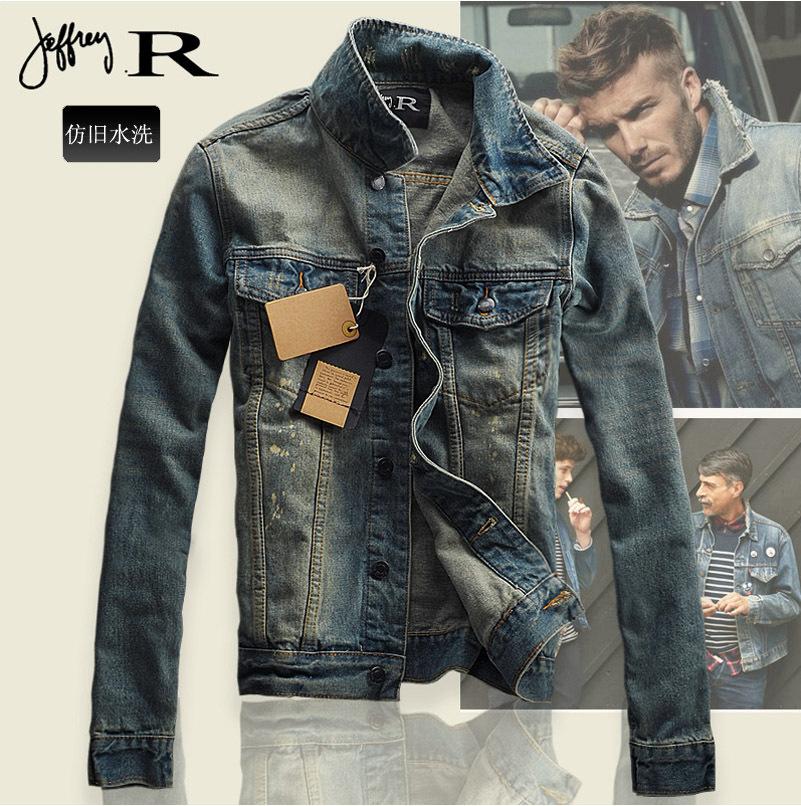 Wholesale Men Vintage Denim Jacket Men'S Short Coat Slim Men Slim ...