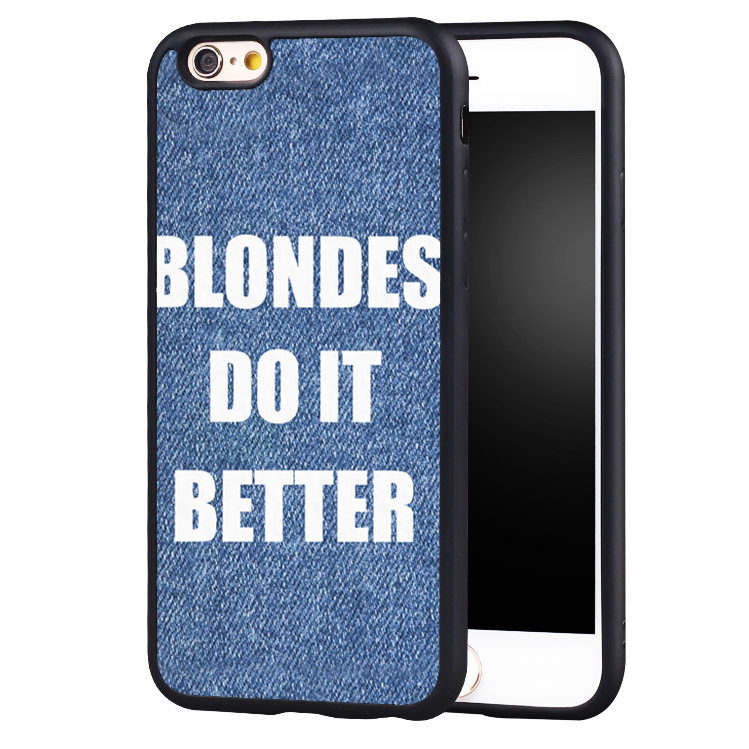 Blondes Do It Better Cute Hair Quote Printed Soft TPU Mobile Phone Cases For iPhone 6 6S Plus SE 5 5S 5C 4 4S Back Shell Cover(China (Mainland))