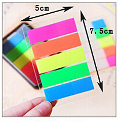 5PCS New Coloful Rainbow Soild Memo Pads Stickers Sticky Flag Post It Notes Office School Diary Message Pads Page Marker(China (Mainland))