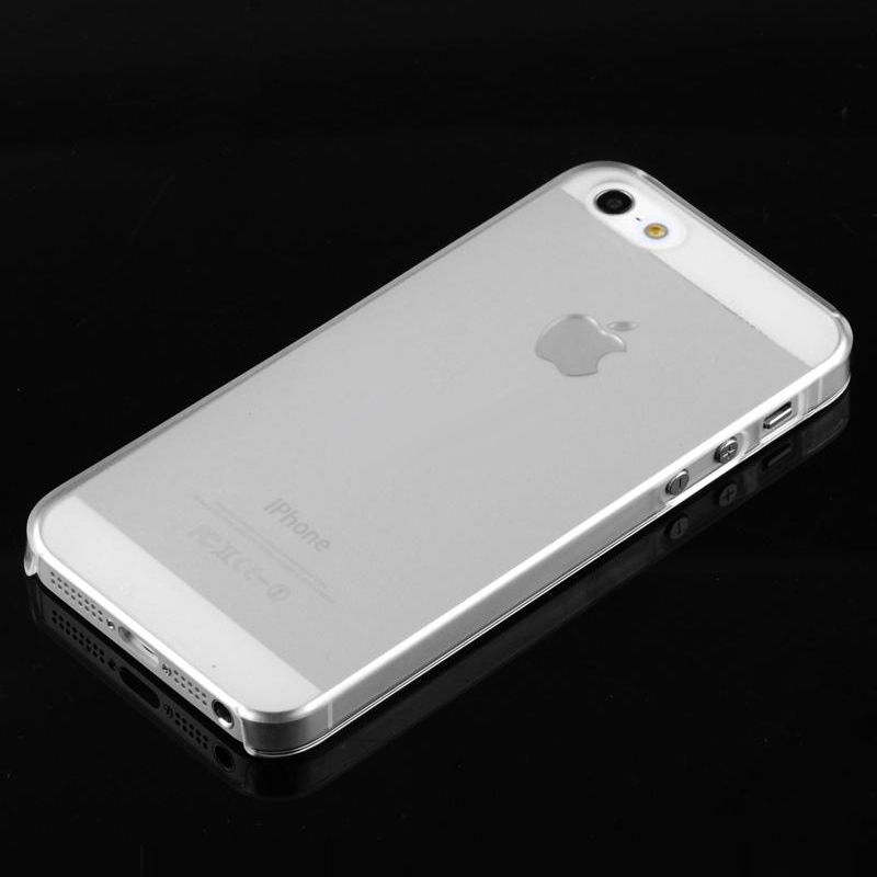New Super Thin Clear Case For iPhone 5S 5 Slim Transparent Crystal Hard Plastic Back Cover Snap-on Protective Phone Capa(China (Mainland))