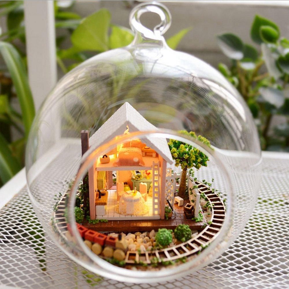 DIY Wooden Pandora Magic Garden 3D Miniature Toy Doll House Voice Control LED Light Crystal Glass Ball Kids Educational Toy<br><br>Aliexpress
