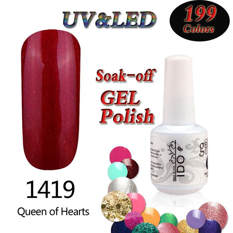 6PCS/LOT 15ml LED&UV nail gel Soak-off gelpolish long lasting bright Liver red gel varnish nail glue top quality hot sale 2015(China (Mainland))