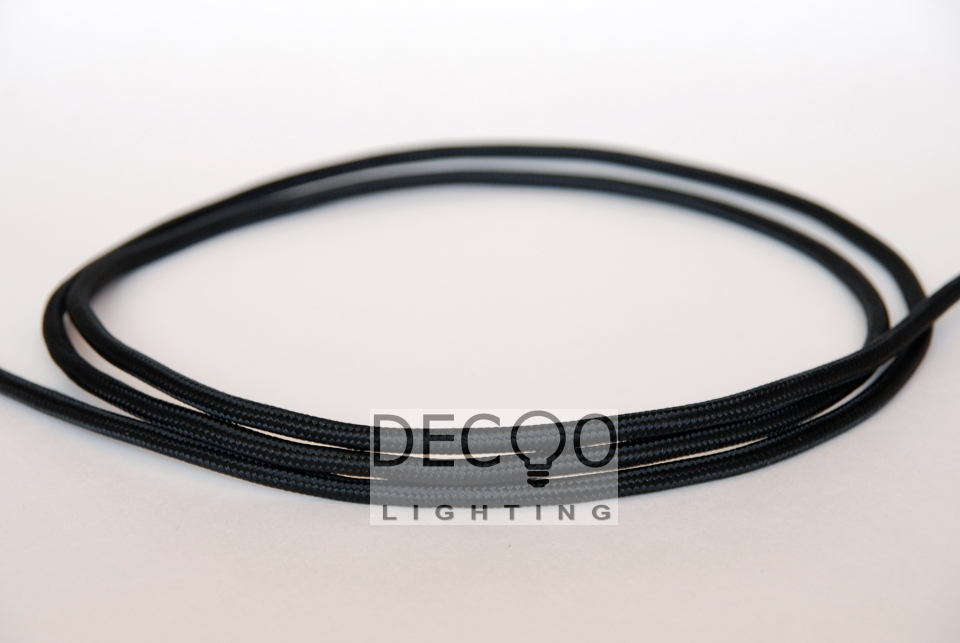 Black Vintage DIY Lighting Cord Textile Cable Cord Electric Wire Lamp Wire(China (Mainland))