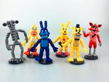 10CM Five Nights At Freddy's 4 FNAF Foxy Chica Bonnie Freddy Action Figures Kid Toy Christmas Gifts