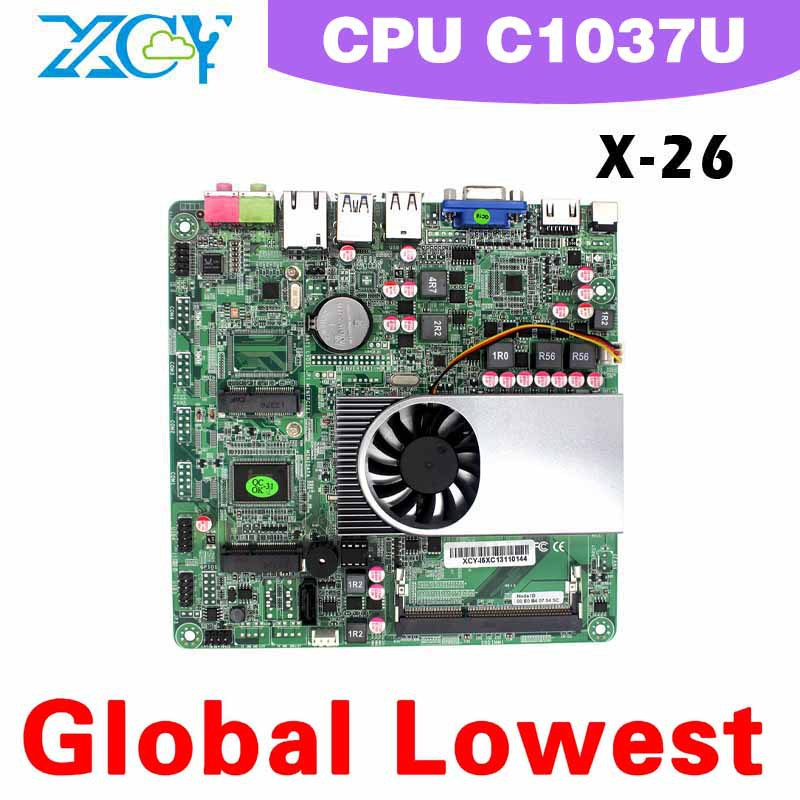 Video Resolution:1920*1080 X-26 C1037U Micro main board mini-itx main board think client computers Wholesale(China (Mainland))