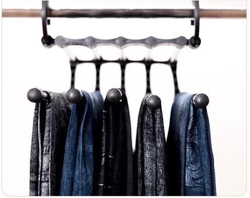 Stainless Steel MultiLayer Multifunction Magic Pants Rack Trouser Hanger(China (Mainland))