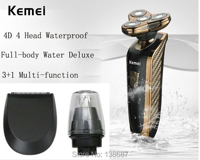 EU Plug Brand 4D Electric Waterproof Rotary 4 Heads Shaver Washable Rechargeable Beard Trimmer Shaving Razor - Ivy technology company LTD store