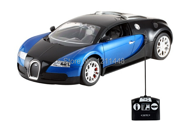 New Blue MZ 2032 Authorized 1:14 Rechargeable Bugatti Veyron RC Luxury Racing Car Model with Light RC Car(China (Mainland))