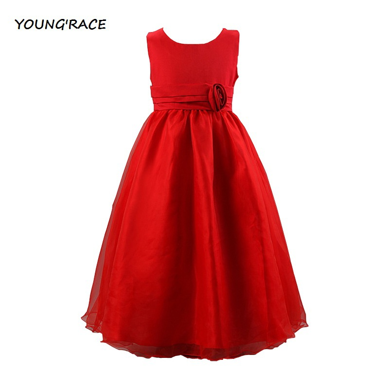 2015 Brand Original New Girls Infant Floral Rose Wedding Vestido Formal Dress Kids Birthday Girls Evening Dress Prom Dress, C081(China (Mainland))