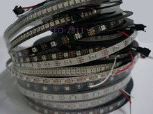 1m/4m/5m WS2812B Smart led pixel strip,Black/White PCB,30/60/144 leds/m WS2812 IC;WS2812B/M 30/60/144 pixels,IP30/IP65/IP67 DC5V(China (Mainland))