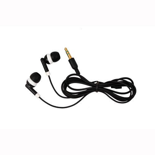 Black Headset Earphone Eearbud For Mobile Phone MP3 MP4 3.5mm Jack(China (Mainland))