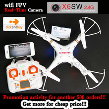 2016 NEW X6sw RC Helicopter drone quadcopter professional drones With C4005 Wifi Fpv Camera and 3 Batteries as gift VS X600 x5sw