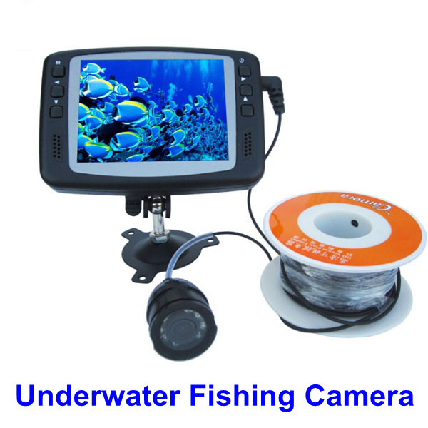 Fish finder 3 5 inch monitor lcd underwater color video for Underwater fishing camera