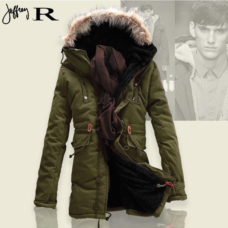 Plus size XXXL Winter jacket men 2015 Russian men Winter Jackets coats long paragraph lamb wool