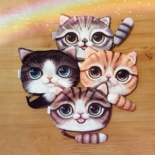 Unisex Cute Animal Cartoon 3D Cat / Dog Face Bag Coin Change Purse Case Wallet Change Pocket Ladies Workmanship Change Purse(China (Mainland))