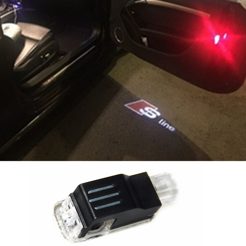 No Drilling LED Ghost Shadow Projector Laser Courtesy Logo Light For audi s line q7 a4 b6 b7 b8 a6 c5 a3 s4 s5 s6 s7 q5 a5 tt(China (Mainland))