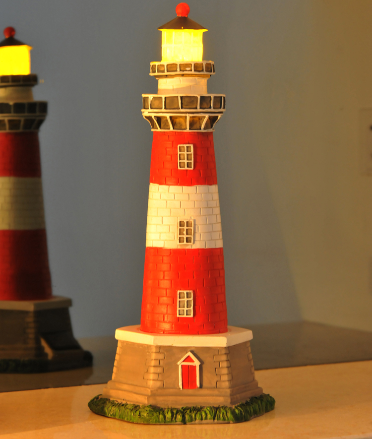 Home decoration resin lighthouse solar lights decoration for Accessoires decoration