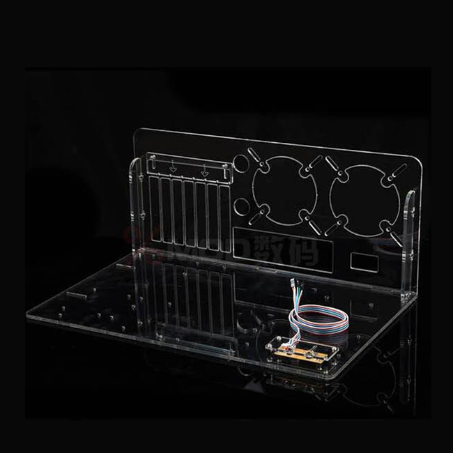 DIY Desktop acrylic rack water cooling standard ATX transparent Computer Cases Towers case Horizontal main chassis(China (Mainland))