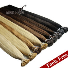 "Pre Bonded Hair Extension Cheveux Keratine 1G Strand Cold Fusion I Tip Indian Remy Hair Straight 16""~24"" Fusion Hair Tools Free(China (Mainland))"
