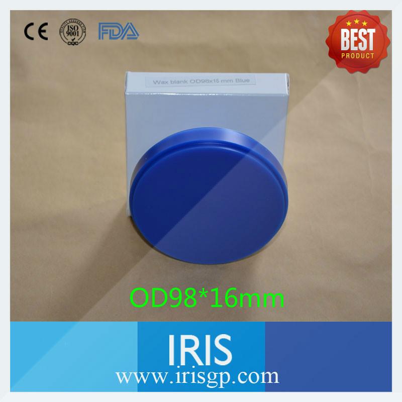 [IRIS 98*16mm] 8 pcs/bag Blue Color CAD/CAM Dental Reinforced Wax Blank Wieland System<br><br>Aliexpress
