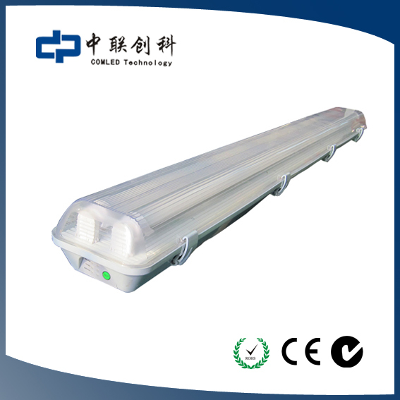 SAA Approved LED Weatherproof fitting Tri-Proof T8 Tube Light Fixture 120cm 2*18w(China (Mainland))