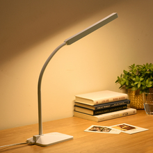 Gooseneck LED Desk Lamp 5-level Dimmer&Color Touch Control Eye Protection Children Bedside Reading Study Office Table Light(China (Mainland))