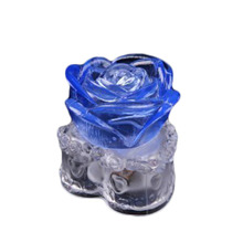 Hot Sale Transparent Base Romantic Rose Colorful Led Flash Night Light Valentine's Day Gifts Drop Shipping HG-2013(China (Mainland))
