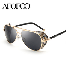 Buy AFOFOO New Fashion Gothic Steam Punk Glasses Brand Designer Vintage Summer Women Men Steampunk Sunglasses Oculos de sol for $9.59 in AliExpress store