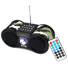 Hot Camouflage Stereo FM Radio USB / TF Card with Speaker MP3 Music Player with Remote Control FM Radio F9203M(China (Mainland))