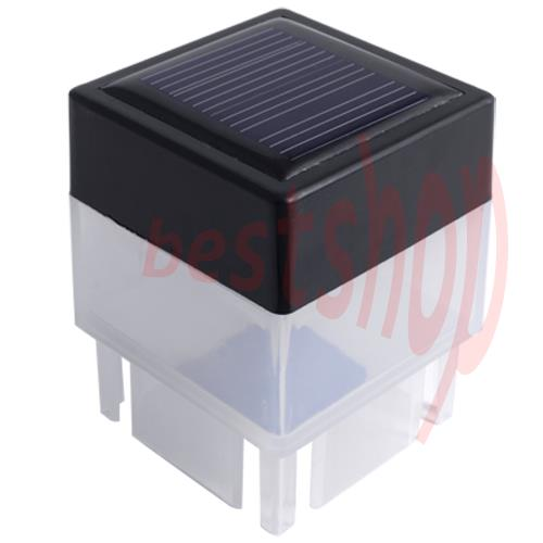 post cap led white solar powered no wire outdoor light With no wire outdoor lighting
