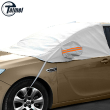 YIKA Universal Car Half Covers Sunshade Styling Foil Waterproof Thicken Car Snow Shield Anti-UV Snow Protection Covers For Cars(China (Mainland))
