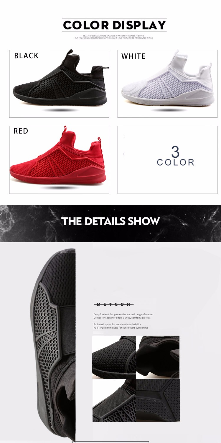 Luxury Men Shoes 2016 New Fashion Men's Breathable Sneaker Red Casual Prevent Slippery Flats Shoes Zapatos Mujer Chaussure Homme