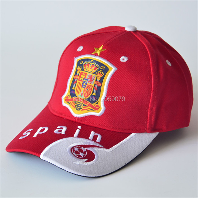 22 teams can choose snapback hats cotton sports football red baseball caps for men women Adjustable Spain soccer hats(China (Mainland))