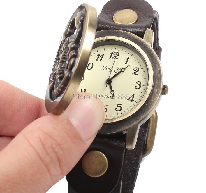 Style restoring ancient ways, scorpion clamshell watches,Digital bracelet men quartz watch(China (Mainland))