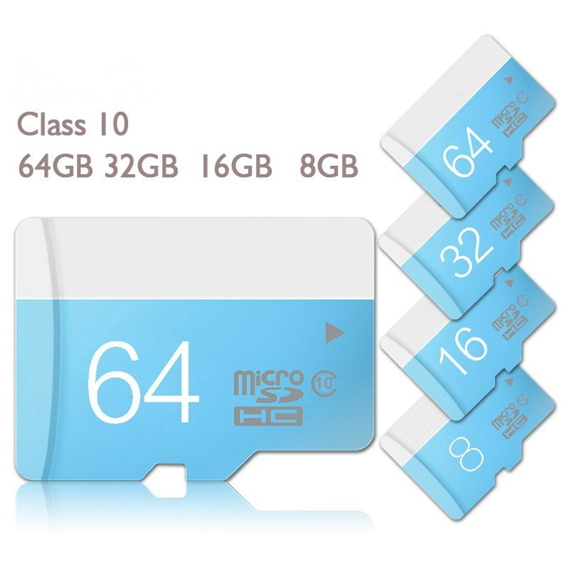 10/lot Blue micro sd card class10 memory card 4GB 8GB 16GB 32GB 64GB logo TF card micro sd card reader+adapter phone for samsung(China (Mainland))